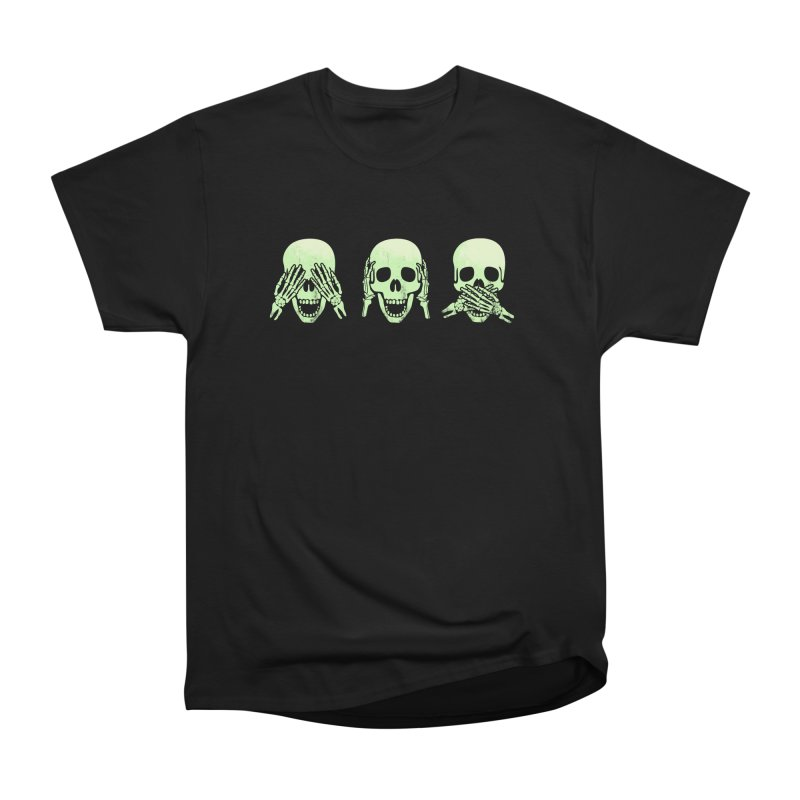 No evil skulls Women's Heavyweight Unisex T-Shirt by Steven Toang
