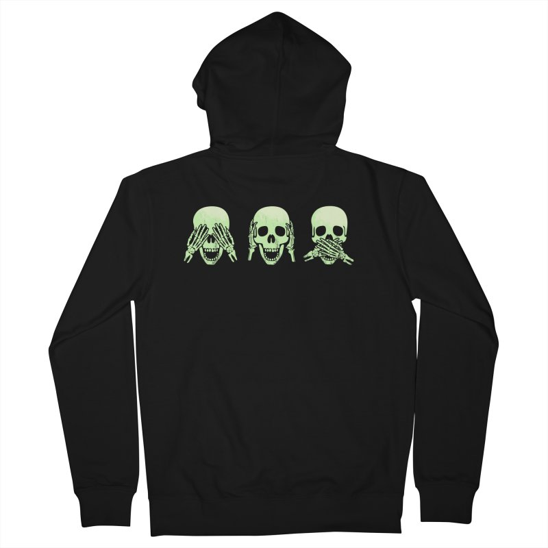 No evil skulls Men's French Terry Zip-Up Hoody by Steven Toang