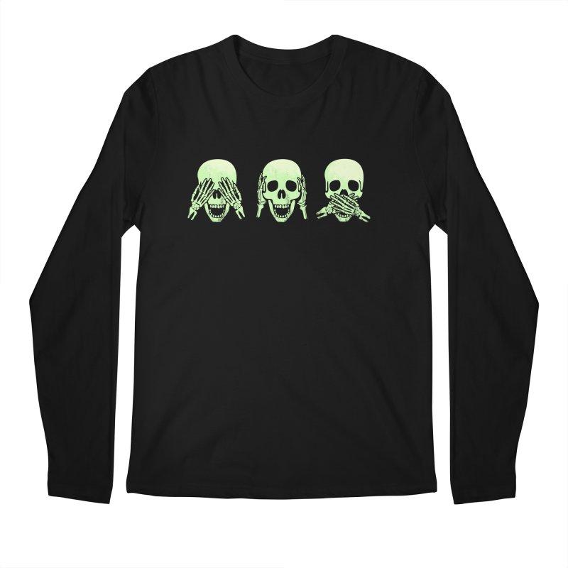 No evil skulls Men's Longsleeve T-Shirt by Steven Toang