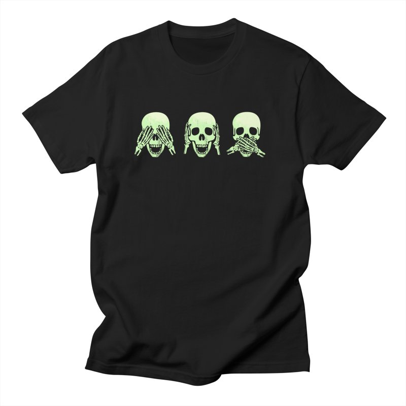 No evil skulls Men's T-Shirt by Steven Toang