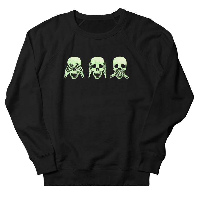 No evil skulls Men's French Terry Sweatshirt by Steven Toang