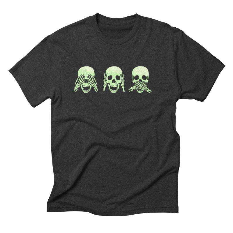 No evil skulls Men's Triblend T-Shirt by Steven Toang
