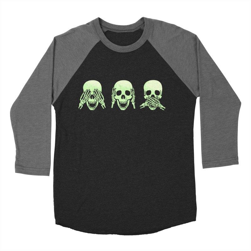No evil skulls Men's Baseball Triblend T-Shirt by Steven Toang