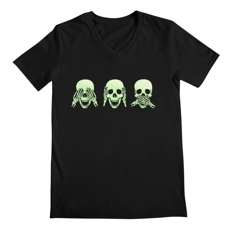 No evil skulls Men's V-Neck by Steven Toang