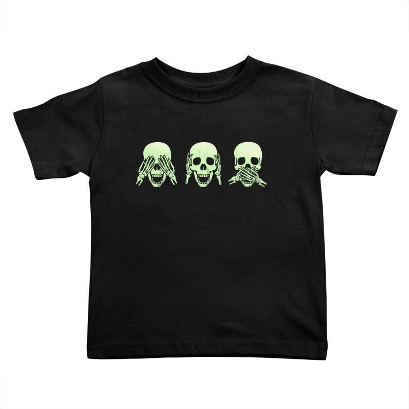 No evil skulls Kids Toddler T-Shirt by Steven Toang