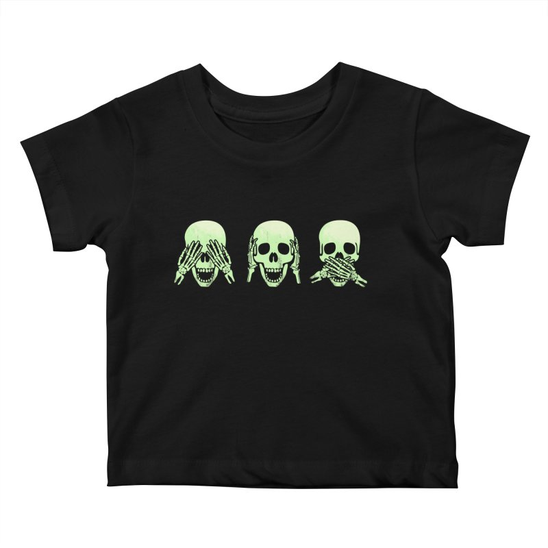 No evil skulls Kids Baby T-Shirt by Steven Toang