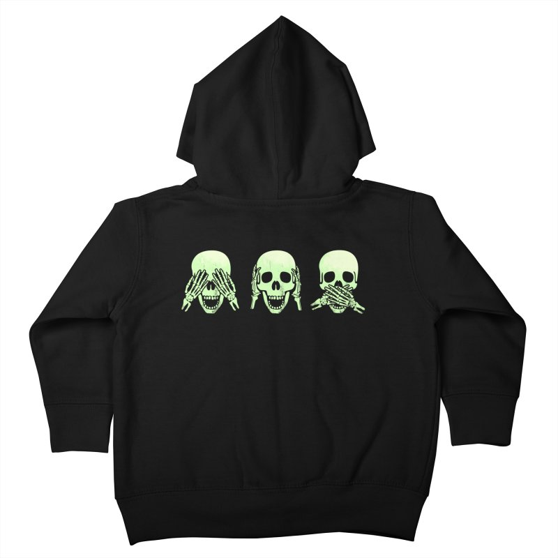No evil skulls Kids Toddler Zip-Up Hoody by Steven Toang