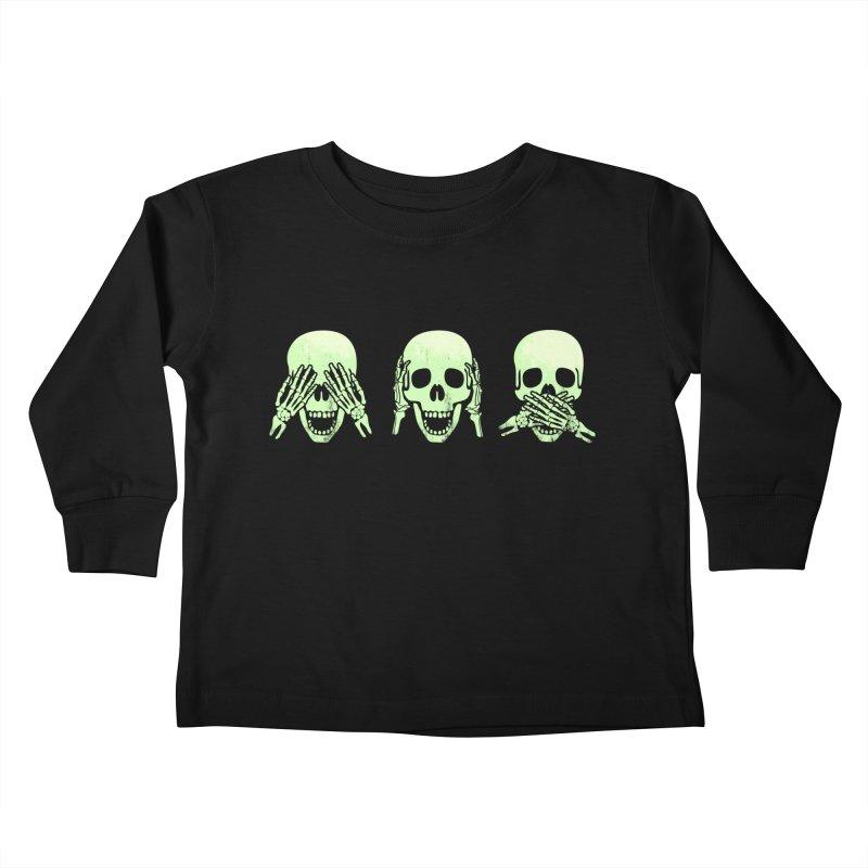 No evil skulls Kids Toddler Longsleeve T-Shirt by Steven Toang
