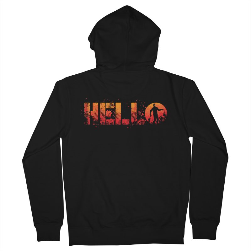 HELLO Men's French Terry Zip-Up Hoody by Steven Toang