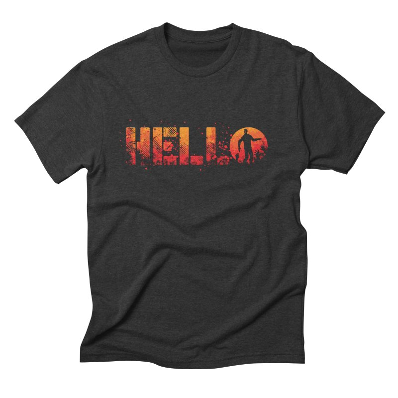 HELLO Men's Triblend T-Shirt by Steven Toang