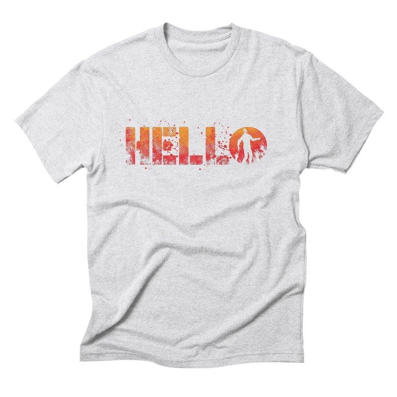 HELLO Men's Triblend T-Shirt by Steven Toang