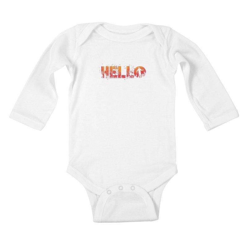 HELLO Kids Baby Longsleeve Bodysuit by Steven Toang