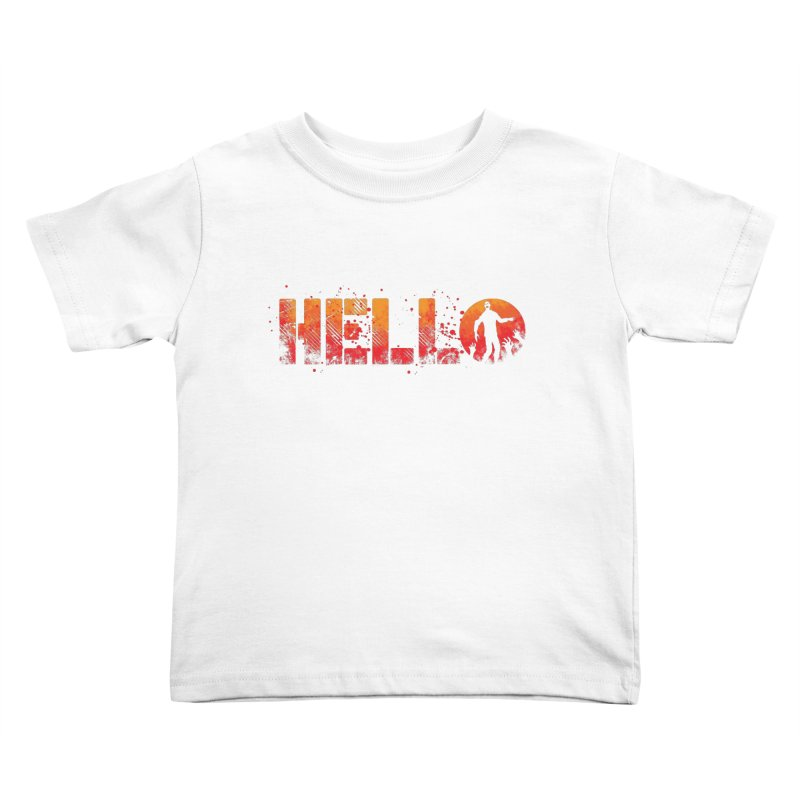 HELLO Kids Toddler T-Shirt by Steven Toang