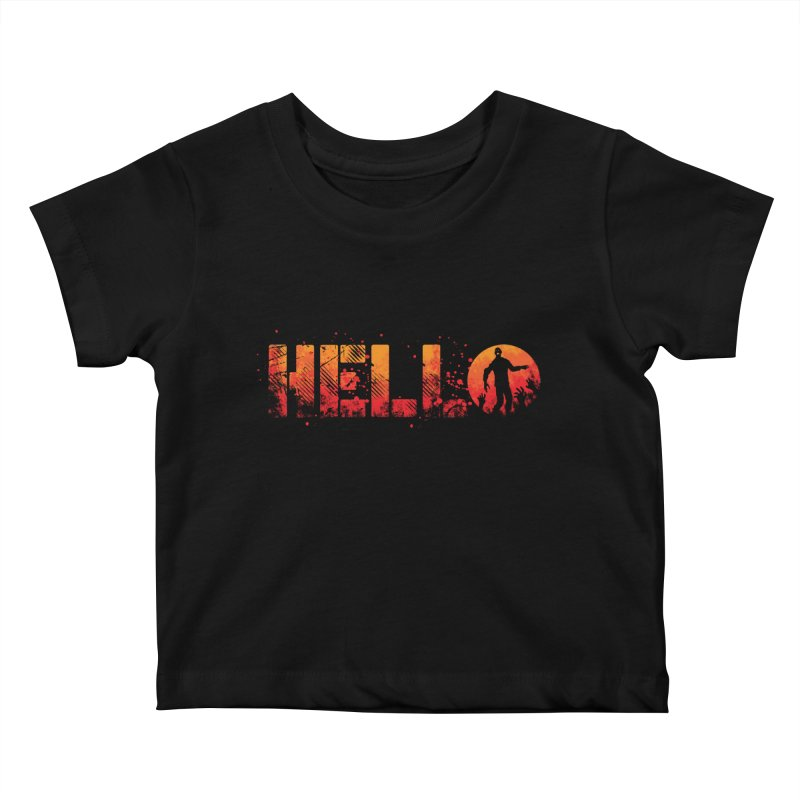 HELLO Kids Baby T-Shirt by Steven Toang