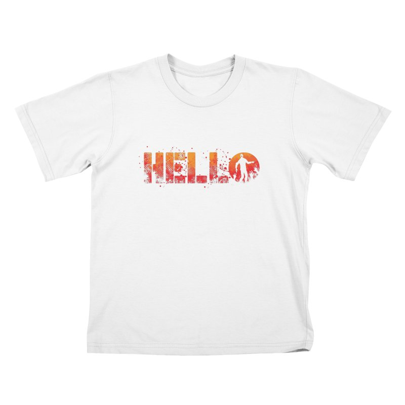 HELLO Kids T-Shirt by Steven Toang