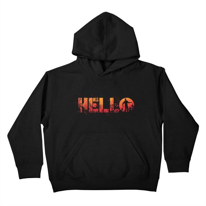 HELLO Kids Pullover Hoody by Steven Toang