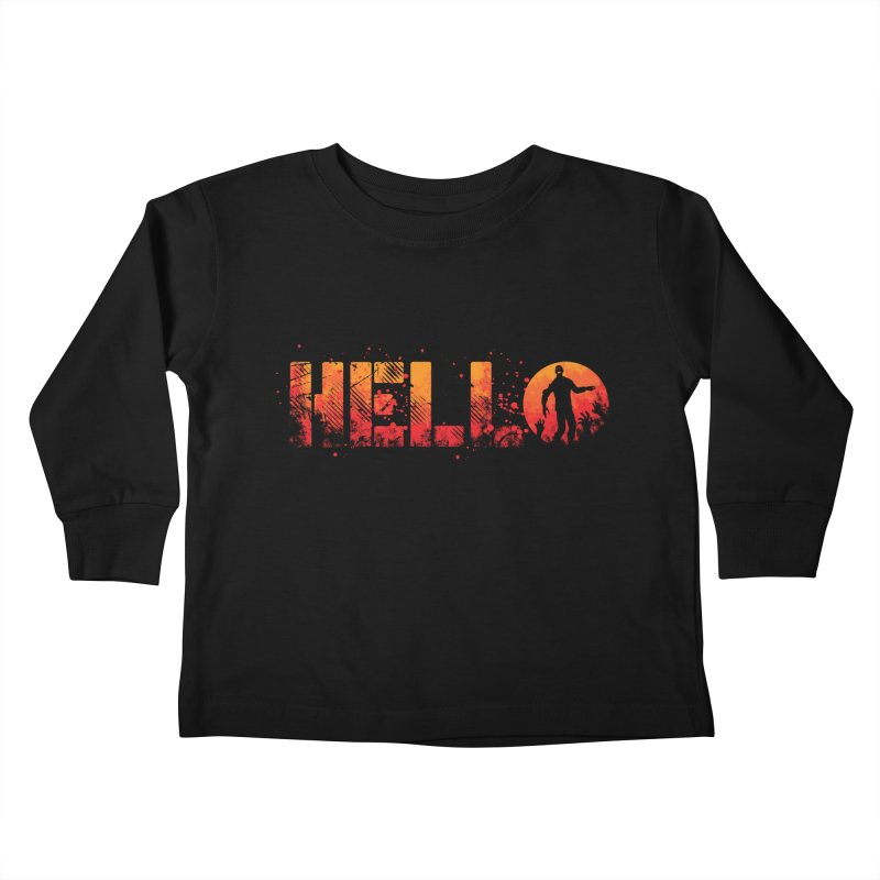 HELLO Kids Toddler Longsleeve T-Shirt by Steven Toang