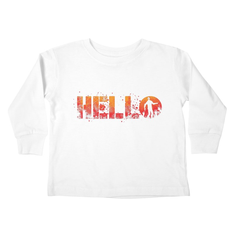 HELLO Kids Toddler Longsleeve T-Shirt by Steven Toang