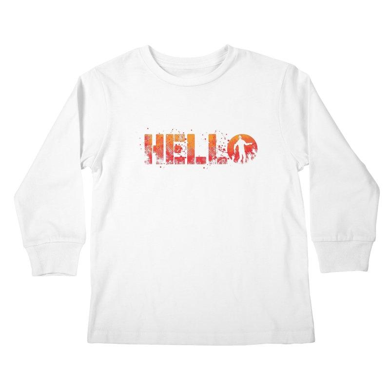 HELLO Kids Longsleeve T-Shirt by Steven Toang