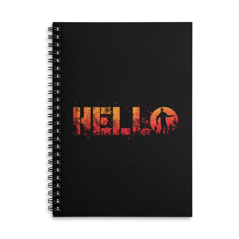 HELLO Accessories Lined Spiral Notebook by Steven Toang