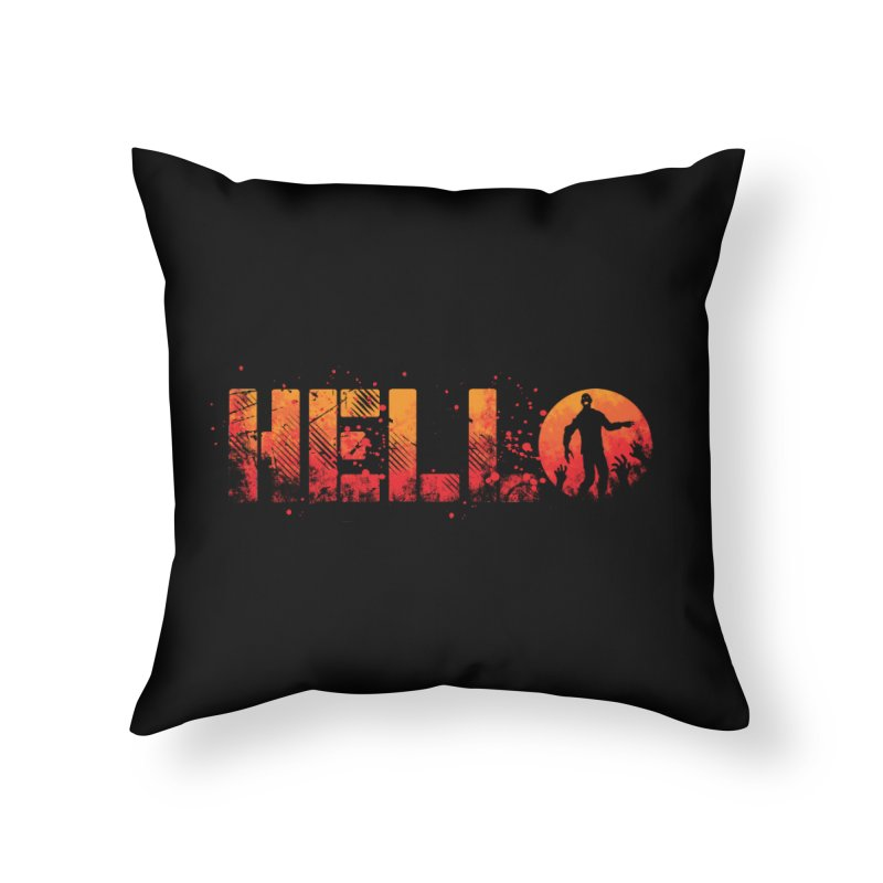 HELLO Home Throw Pillow by Steven Toang