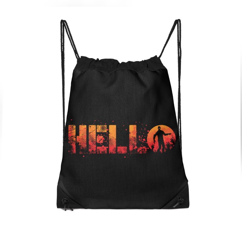 HELLO Accessories Drawstring Bag Bag by Steven Toang