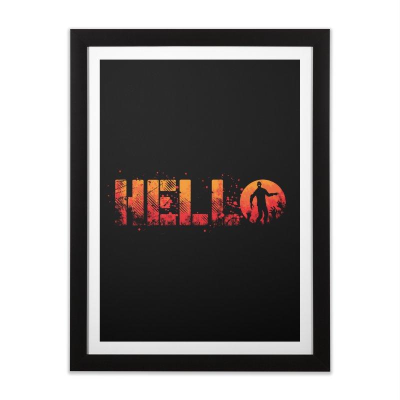 HELLO Home Framed Fine Art Print by Steven Toang