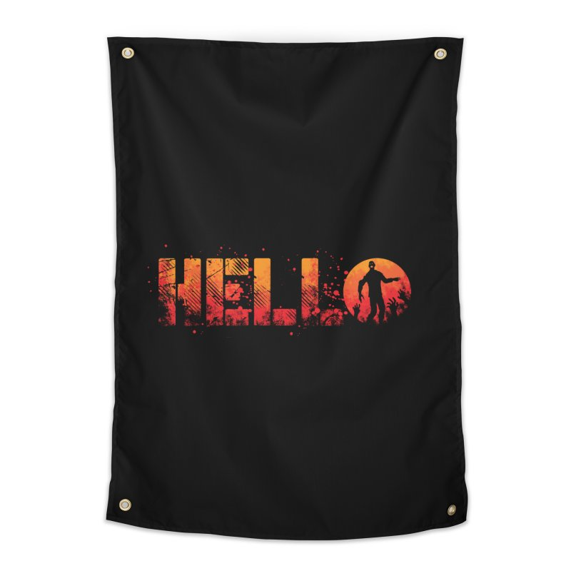HELLO Home Tapestry by Steven Toang