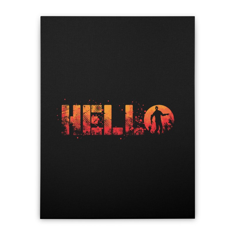 HELLO Home Stretched Canvas by Steven Toang