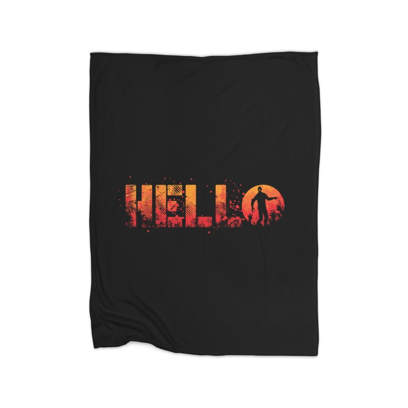 HELLO Home Fleece Blanket by Steven Toang