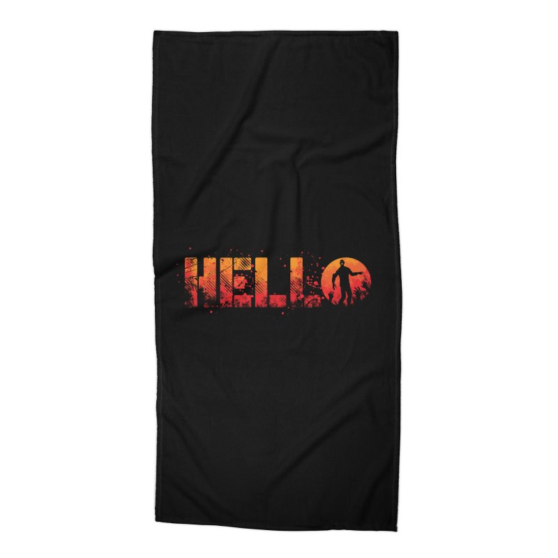 HELLO Accessories Beach Towel by Steven Toang