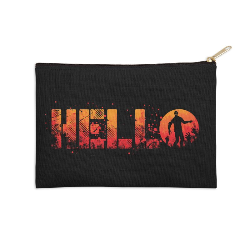 HELLO Accessories Zip Pouch by Steven Toang