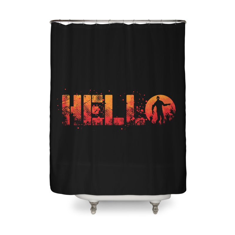 HELLO Home Shower Curtain by Steven Toang