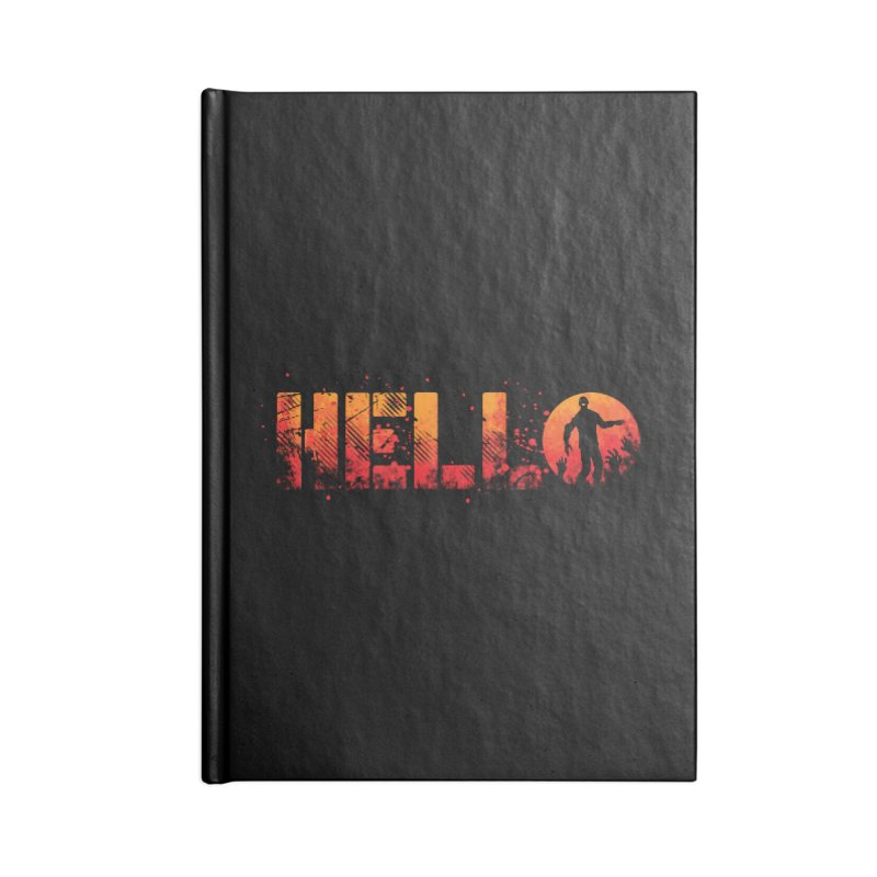 HELLO Accessories Lined Journal Notebook by Steven Toang