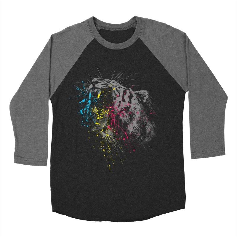 Rawr Women's Baseball Triblend Longsleeve T-Shirt by Steven Toang