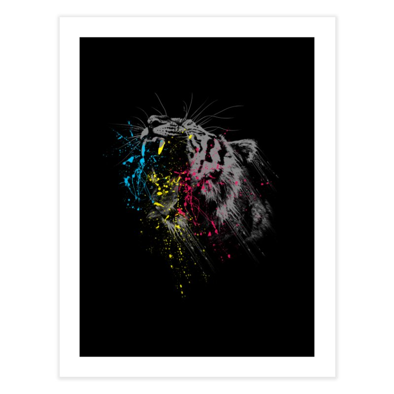 Rawr Home Fine Art Print by Steven Toang