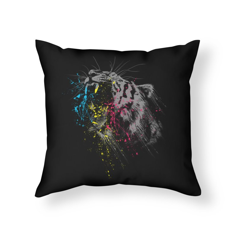 Rawr Home Throw Pillow by Steven Toang