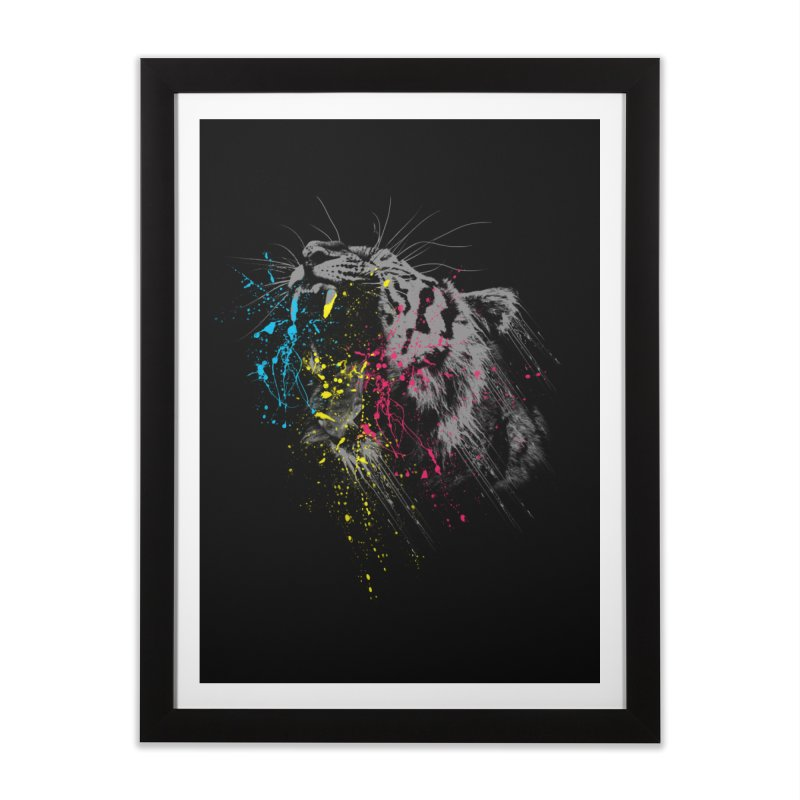 Rawr Home Framed Fine Art Print by Steven Toang