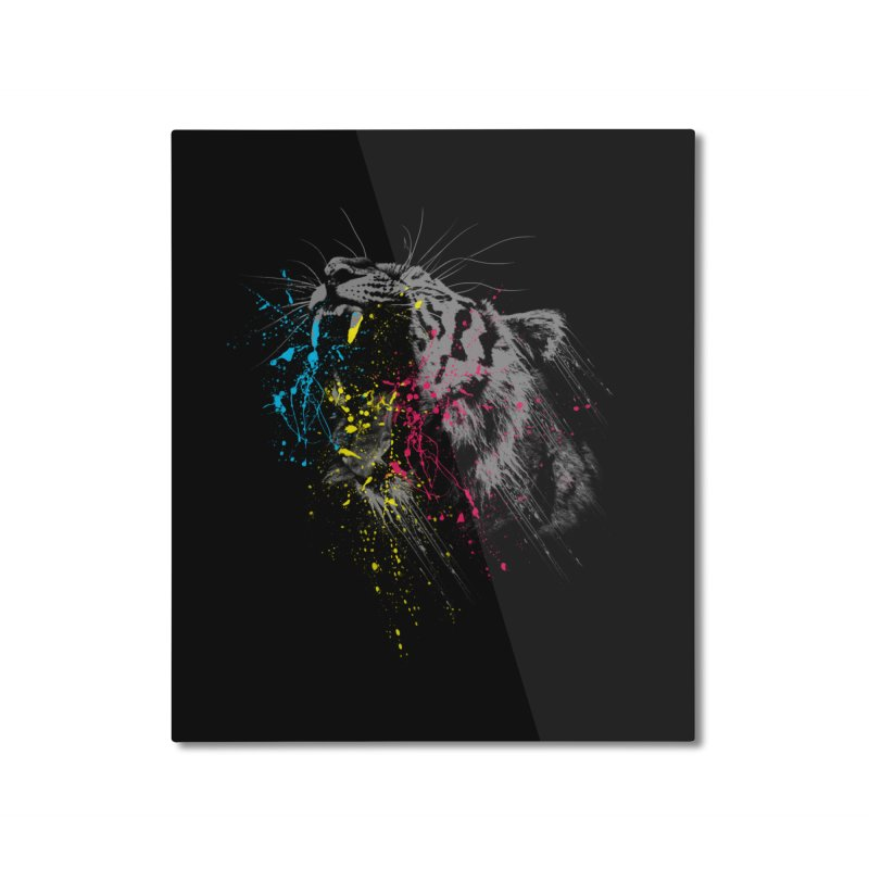 Rawr Home Mounted Aluminum Print by Steven Toang
