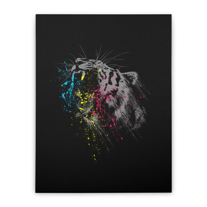 Rawr Home Stretched Canvas by Steven Toang