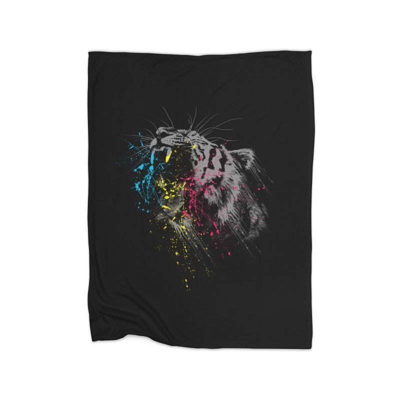 Rawr Home Fleece Blanket by Steven Toang
