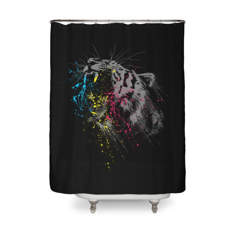 Rawr Home Shower Curtain by Steven Toang