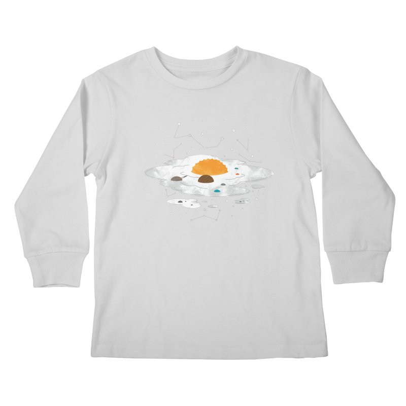 Egg Dimension Kids Longsleeve T-Shirt by Steven Toang