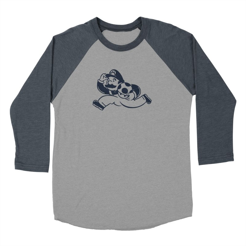 Mariopoly Men's Baseball Triblend Longsleeve T-Shirt by Steven Toang