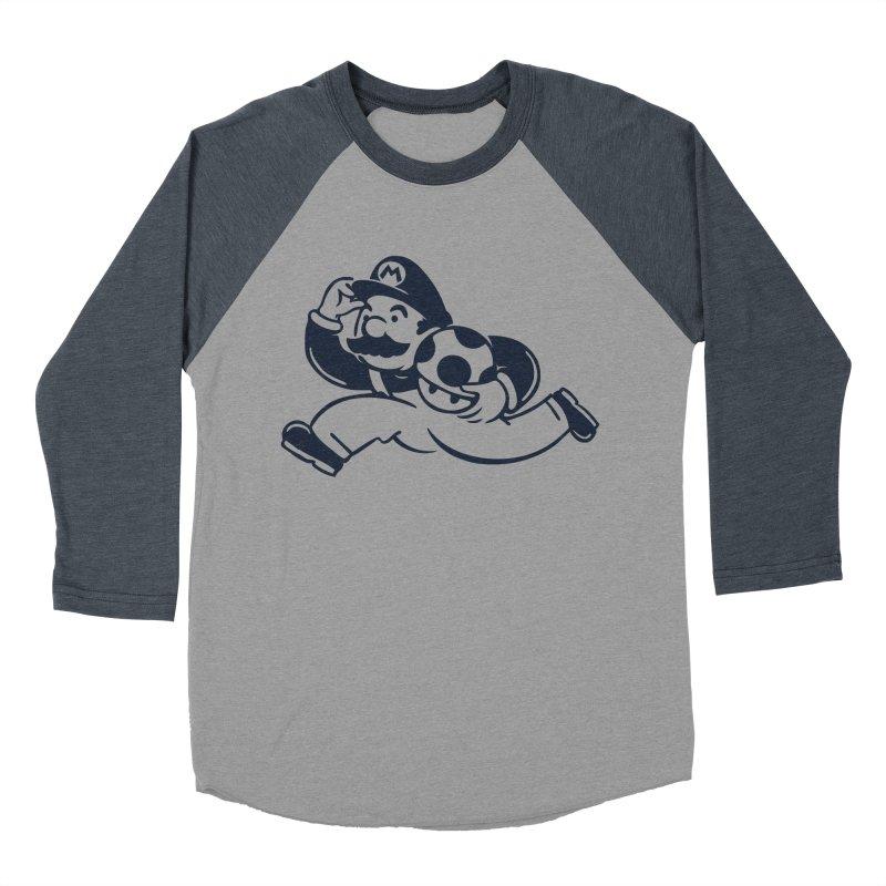 Mariopoly Women's Baseball Triblend Longsleeve T-Shirt by Steven Toang