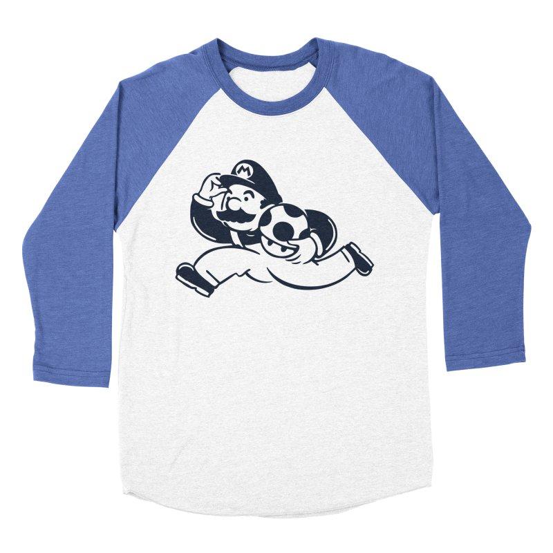 Mariopoly Men's Baseball Triblend Longsleeve T-Shirt by Steven Toang