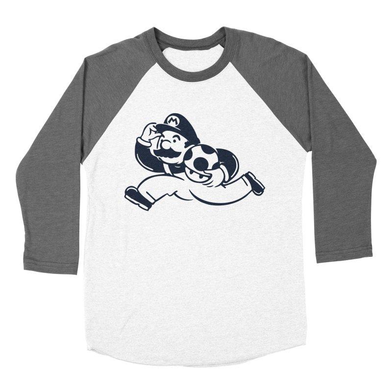 Mariopoly Men's Baseball Triblend T-Shirt by Steven Toang