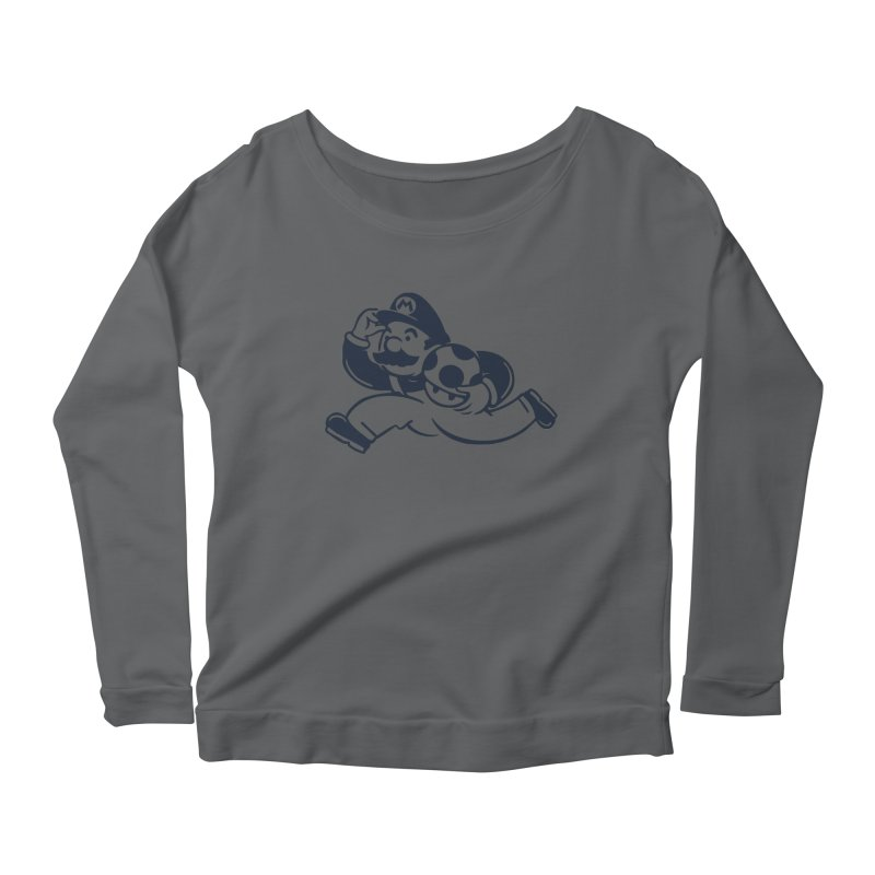 Mariopoly Women's Scoop Neck Longsleeve T-Shirt by Steven Toang