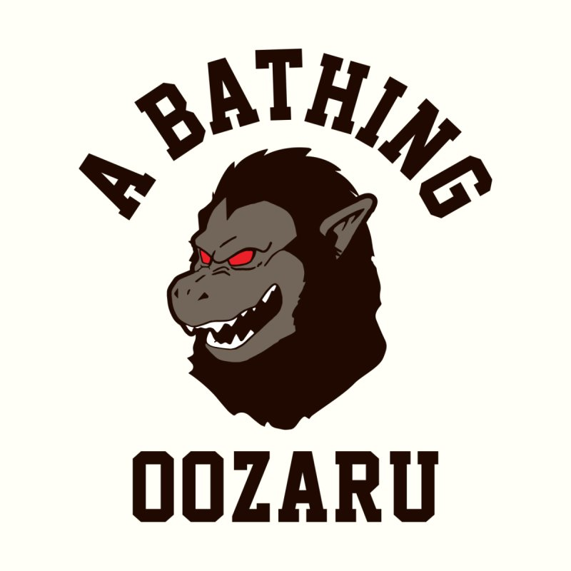 A Bathing Oozaru Men's Longsleeve T-Shirt by Steven Toang