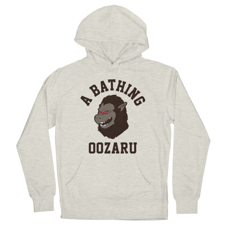 A Bathing Oozaru Men's French Terry Pullover Hoody by Steven Toang